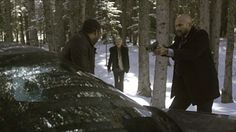 Fargo TV Show episode 10 - But why's he sorry? Because Lorne Malvo approaches from behind and kills both men before approaching the owner. After taking some time to hide the bodies, Malvo enters Lester's home and hears Lester frantically calling the police for help. He even goes as far to say that he's in the bathroom, which has no lock on its door. Come on, Malvo, you're smarter than this.