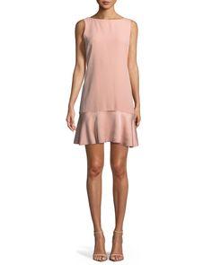 6faa2dd65abdb Theory Flirty Flare A-line Kensington Crepe Dress