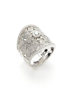 Diamond Floral Cutout Graduated Band Ring by Vendoro on Gilt.com  So beautiful, there are no words.