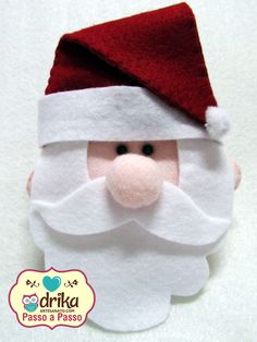 Passo a Passo: Papai Noel de Feltro