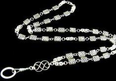 Lanyard with Celtic Beads and Byzantine by byBrendaElaine on Etsy