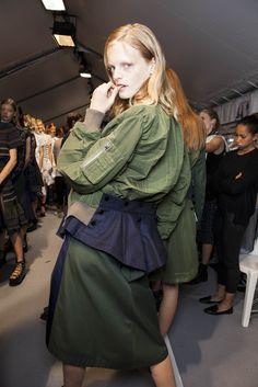 Backstage Pass: Paris Fashion Week Spring 2015 - Backstage at Sacai Spring 2015