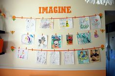 playroom artwork display