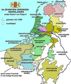 The Seventeen United Netherlands Belgium Foederatum 1543 - 1579 Netherlands Map, European Map, Geography Map, Projection Mapping, Old Maps, Historical Maps, 17th Century, Family History, Planer