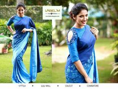 15 Cold Shoulder Blouse Ideas To Mark Your Big Day With Style Saree Jacket Designs, Saree Blouse Neck Designs, Saree Blouse Patterns, Fancy Blouse Designs, Cold Shoulder Saree Blouse, Blouse Models, Stylish Sarees, Fancy Sarees, Beautiful Blouses