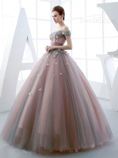 Princess Off The Shoulder Applique Lace Up Back Quinceanera Ball Gown 12453320 - Quinceanera Dresses - Dresswe. Shrug For Dresses, 15 Dresses, Modest Dresses, Elegant Dresses, Pretty Dresses, Evening Dresses, Fashion Dresses, Dresses Online, Wedding Dresses
