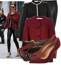 """Miranda Kerr In Red&Black"" by fashion-guru678 on Polyvore"