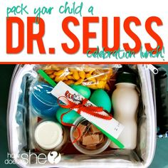 Pack your kids a Dr. Seuss CELEBRATION Lunch!
