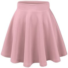 Thanth Womens Versatile Stretchy Pleated Flare Short Skater Skirt ($16) ❤ liked on Polyvore featuring skirts, mini skirts, pleated skater skirt, short pleated skirt, flare skirt, pink skater skirt and pink mini skirt