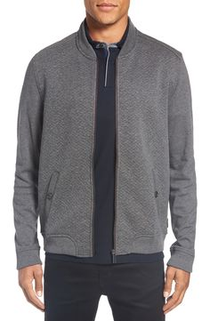 Main Image - Ted Baker London Bruno Trim Fit Quilted Baseball Jacket (Tall)