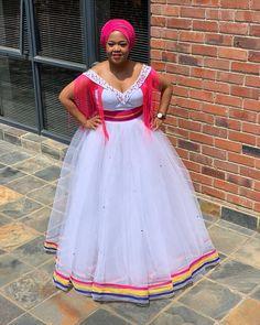 Pedi Traditional Attire, Sepedi Traditional Dresses, African Traditional Wear, African Traditional Wedding Dress, African Outfits, Latest African Fashion Dresses, African Dresses For Women, Seshoeshoe Dresses, Bridal Dresses