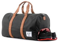 Herschel Supply & Co Novel Duffle $79.00For the Man Who: Loves His Shoes, Frequent Traveler, Gym Rat, Fashion-Forward What We Love: Separate shoe compartment, the perfect carry-on that's great for guys that travel and are constantly on-the-go, gym-friendly, fashionable yet manly, comes in a great variety of colors (can be found at Nordstrom, Zappos, and other online retail stores), and great quality.