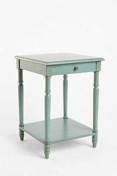 """""""Genevieve"""" side table in turquoise blue from Urban Outfitters ($120)."""
