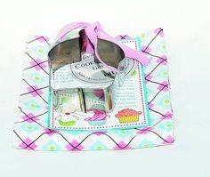 DII Kitchen Towel & Cupcake Cookie Cutter w/ Recipe Card Gift Set