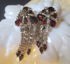 Vintage Ruby & Clear Rhinestone Scatter Pins Signed 1/20th 12kt GF #MSprovidence