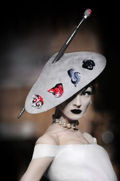 Stephen Jones for Christian Dior Haute Couture . . . i've always needed a painter's hat...heehee . . .