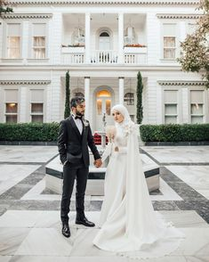 49 Ideas For Dress Hijab Muslim Bridesmaid Hijabi Wedding, Muslimah Wedding Dress, Muslim Wedding Dresses, Hijab Bride, Dream Wedding Dresses, Bridal Hijab, Wedding Couples, Wedding Photos, Marriage Day