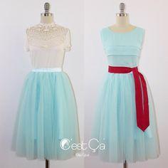 What would you pair Colette skirt in light Robin Egg Blue with?  #cestcany #tulleskirt #tulleskirts #tulle #tutu #adulttutu #tutuskirt #puffyskirt #bridal #bridalskirt #bridaldress #bridesmaids #engagement #engagementphotoshoot #plussize #fashionshop #instafashion #shopping #fashion #style #dressup #instagood #girls #stylish #bridal #outfit #tagsforlikes #ootd #outfitoftheday