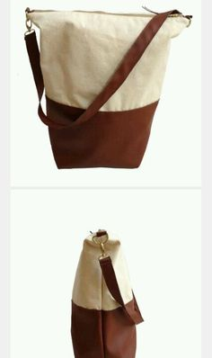 Leather/canvas bag