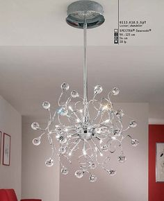 Polaris chandelier small by Kolarz #modern #chandelier