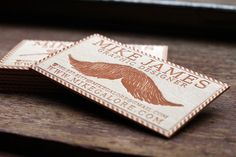 25 Unconventional Wooden Business Cards | Cuded