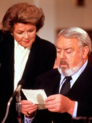 Barbara Hale, Raymond Burr, Della Street & Perry Mason Della stop passing me love notes at work!