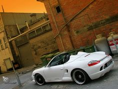 Porsche Boxster 986 with body kit to look like a Spyder