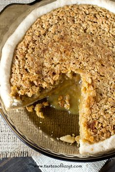 Amish Oatmeal Pie (1) From: A Taste Of Lizzy T, please visit