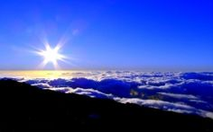 Download Blue sky with sun above the cloud High quality wallpaper