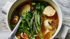 The Garlic Broth Recipe That Brought Me Back to Health | Healthyish | Bon Appetit