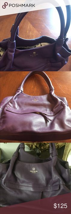 Kate Spade satchel Kate Spade leather purple satchel in great condition.This bag has hardly been used. Perfect condition. kate spade Bags Satchels