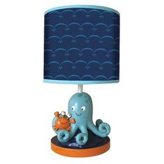 Lambs and Ivy Bubbles and Squirt Collection Lamp w/Shade & Bulb