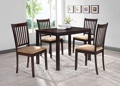 Kings Brand Cappuccino Finish Wood Microfiber Kitchen Dinette Dining Side Chairs, Set of 2 Table And Chair Sets, Dining Chair Set, Dining Room Furniture, Outdoor Furniture Sets, Dining Rooms, Bar Furniture, Furniture Deals, Dining Tables, Kitchen Dining Sets