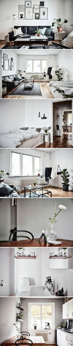 indretning-lille-lejlighed Dream Apartment, Studio Apartment, Moving Out, My Dream Home, Home And Living, Small Spaces, Sweet Home, Room Decor, Layout