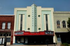 Valdosta GA Lowndes County Downtown Revitalization Dosta Theatre Playhouse Art Deco Movie House Marquee Trailer Park Musical Pictures Photo Copyright Brian Brown Vanishing South Georgia USA 2011