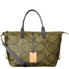 Giant Linear Stem Print Zip Holdall - oral kiely. This in navy is an awesome weekender!