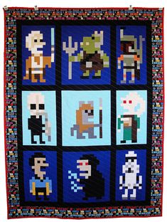 Star Wars Quilt 2 by Rebel Perfection featuring Iotacons by Andy Rash