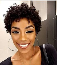 Thinning Hair Tips You Can Try Out Today! Educating yourself on thinning hair helps you understand the causes and effects of the condition as well as how to keep it under control. Losing your hair Natural Hair Short Cuts, Short Curly Hair, Curly Hair Styles, Natural Hair Styles, Curly Pixie, Curly Afro, Short Pixie, Pixie Cut, Twa Hairstyles