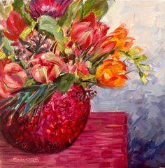 "Daily Paintworks - ""Fresh Start"" - Original Fine Art for Sale - © Marcela Strasdas Fresh Start, Fine Art, Spring Flowers, 30th, Artist, Painting, The Originals, New Start, Artists"