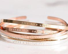 Personalized Name Bar Bracelet / Custom Bracelet / Engraved Bracelet / Name Plate Bracelet in Sterling Silver, 14k Gold-filled, or Rose