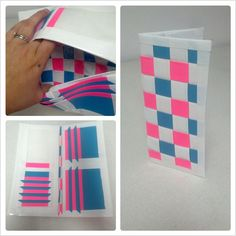White/hot pink/turquoise Woven Women's Duct Tape Wallet. $11.00, via Etsy.