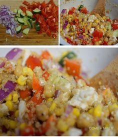 At the Table: Garden Quinoa Recipe #comeandtakeit