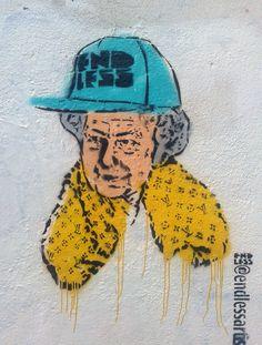 The Queen,Broadwick st, London Graffiti, Queen, London, London England, Graffiti Artwork, Street Art Graffiti
