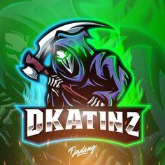 Game Logo Design, Grim Reaper, Royalty Free Images, Creative Art, In This World, Skulls, Badge, Symbols, Cartoon