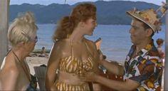 """Cantinflas y Erika Carlsson en """"El bolero de Raquel"""" Director: Miguel M. Delgado, 1956."""