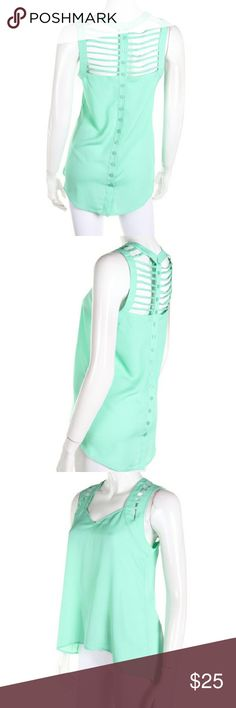 Spotted while shopping on Poshmark: Cut out detailed tank top! #poshmark #fashion #shopping #style #Fashionomics #Tops