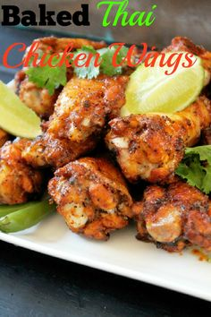Baked Thai Chicken Wings-Creole Contessa