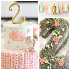 Adorable!! Vintage bunny themed 2nd birthday party via Kara's Party Ideas