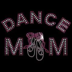 DANCE MOM & SHOE Rhinestone Design Motif by BlingnPrintStreet