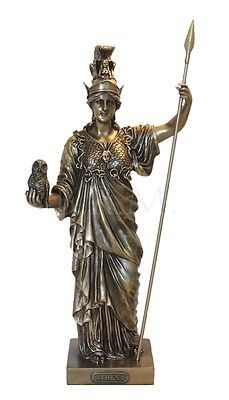 ATHENA Goddess of Wisdom War Greek Mythology Statue Pagan Fantasy Bro…